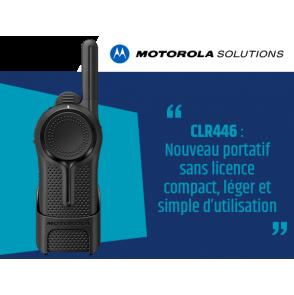 CLR446 : Nouveau portatif sans licence Motorola