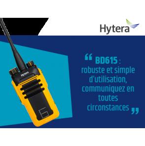 BD615 : Nouveau portatif robuste Hytera